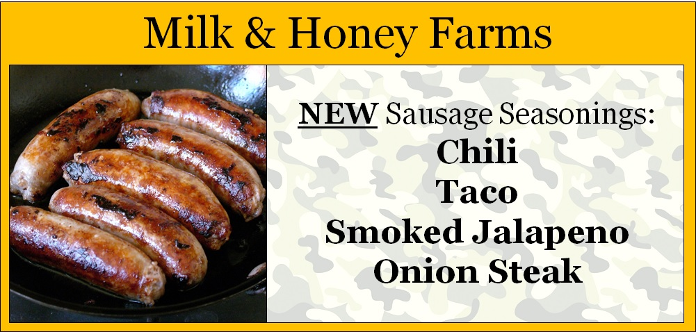 New Sausage Sesonings from Milk & Honey Farms