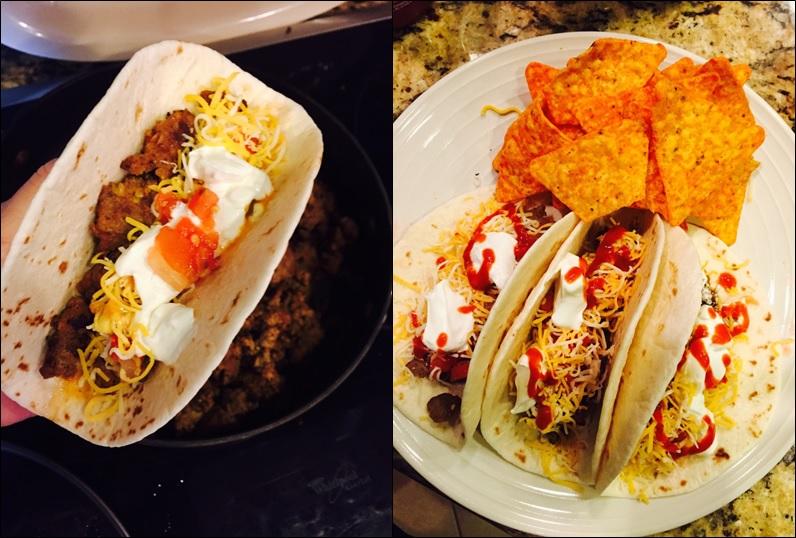 Soft Tacos, made with Jalapeno ground pork - Joyce Richards