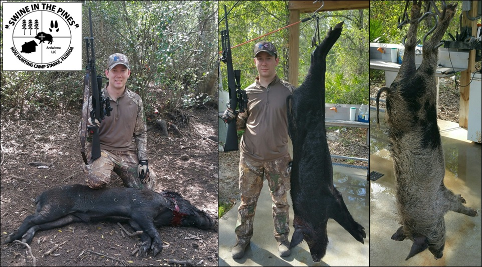 Andy with enough Wild Hog Meat to last the summer taken at Swine In The Pines Hog Hunting Camp in North Florida