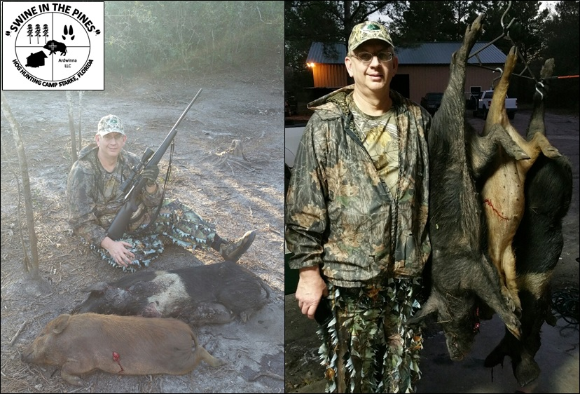 Barry looking to fill the freezer took his Wild Hogs Swine In The Pines