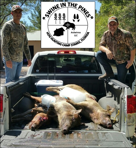 Boyd and Josh headed over to Milk & Honey Meat Processing with their truck loaded. 198lb Sow, 191lb Sow, 108lb Boar taken from Swine In The Pines in Starke, Florida