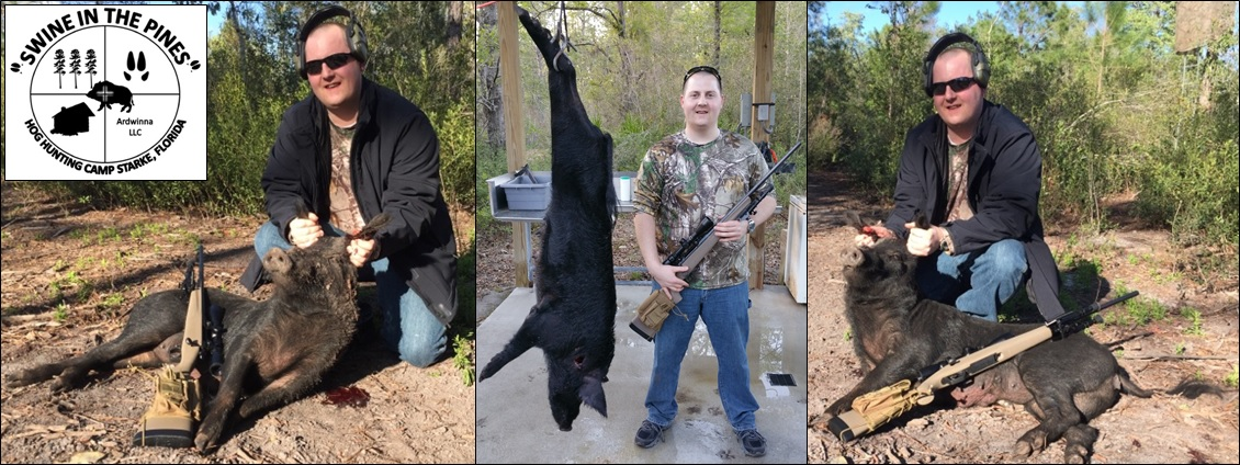 Brendan shoot this Piney Woods Rooter at Swine In The Pines North Florida Hog Hunting Camp