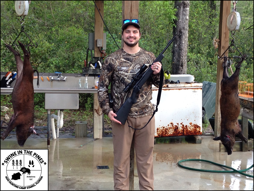 Harley shot two nice meat hogs at Swine In The Pines Hunting Camp in Notheast Florida