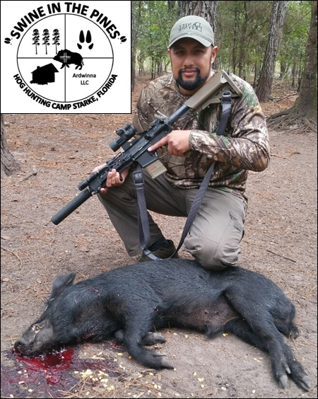 Jon and his 78lb Boar at Swine In The Pines