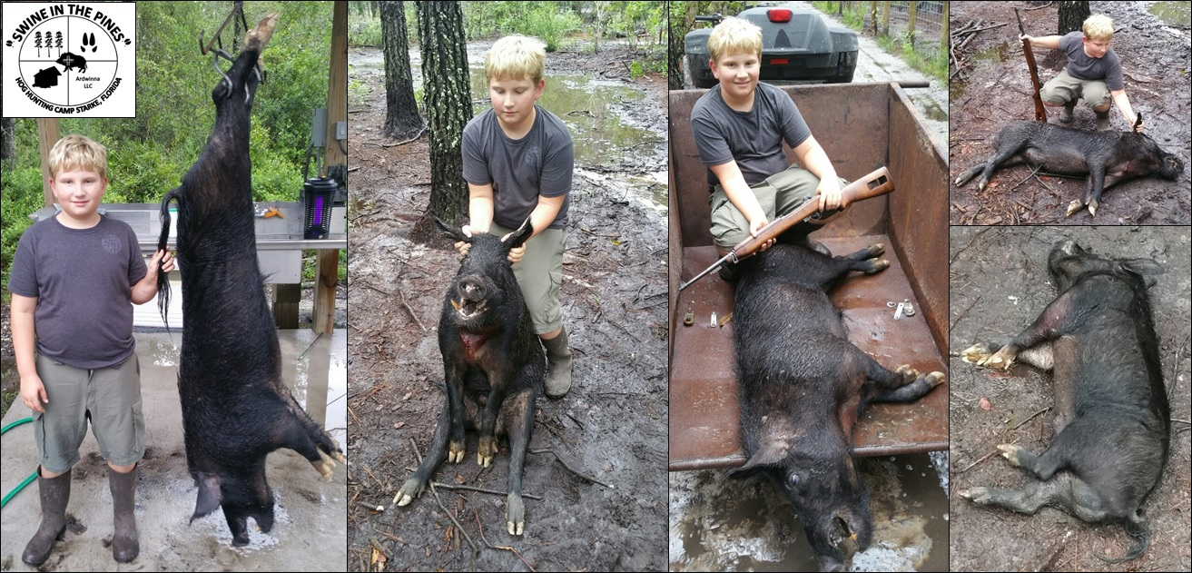 Mark took his first Wild Hog at Swine In The Pines a 150lb Boar Hog with 2in cutters
